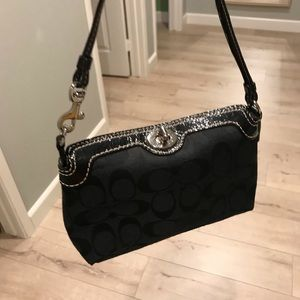 Black Coach small clutch with strap